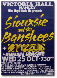 siouxsie and the banshees at the Victoria Hall Hanley